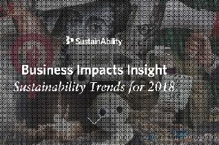 Las tendencias que depara el 2018, según SustainAbility