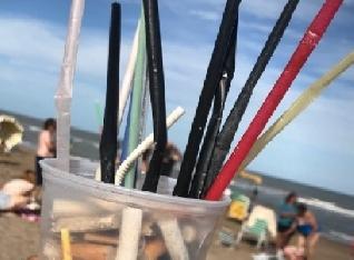 Pinamar libre de sorbetes y vasos de plástico