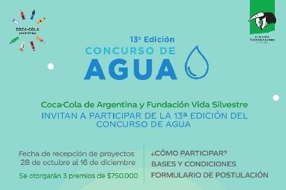 Fundación Vida Silvestre y Coca-Cola traen la 13° edición del Concurso de Agua