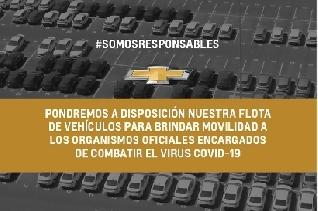 General Motors cede su flota para contribuir en la lucha contra el COVID 19 en Argentina